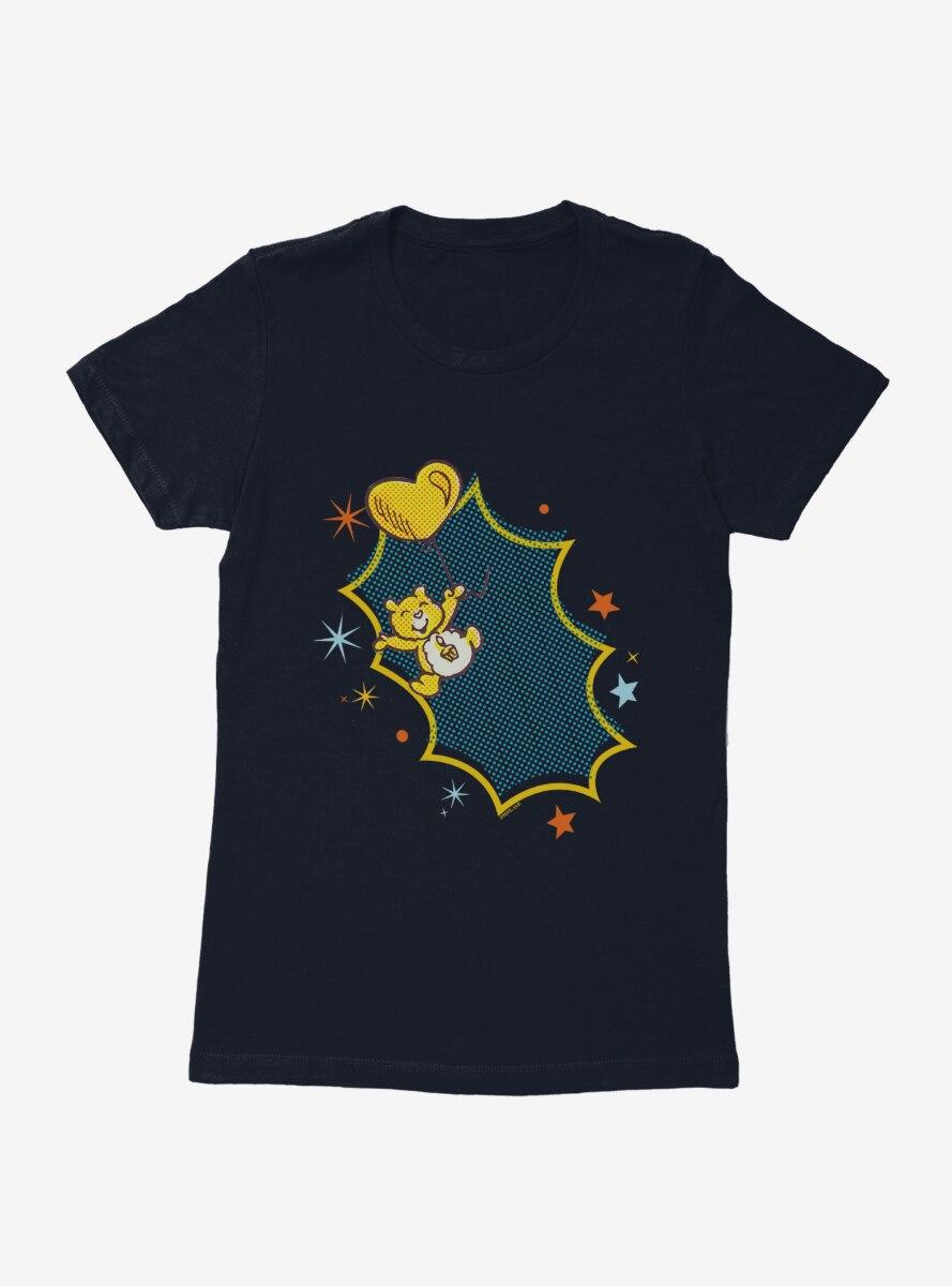 Care Bears Retro Birthday Bear Balloon Womens T-Shirt