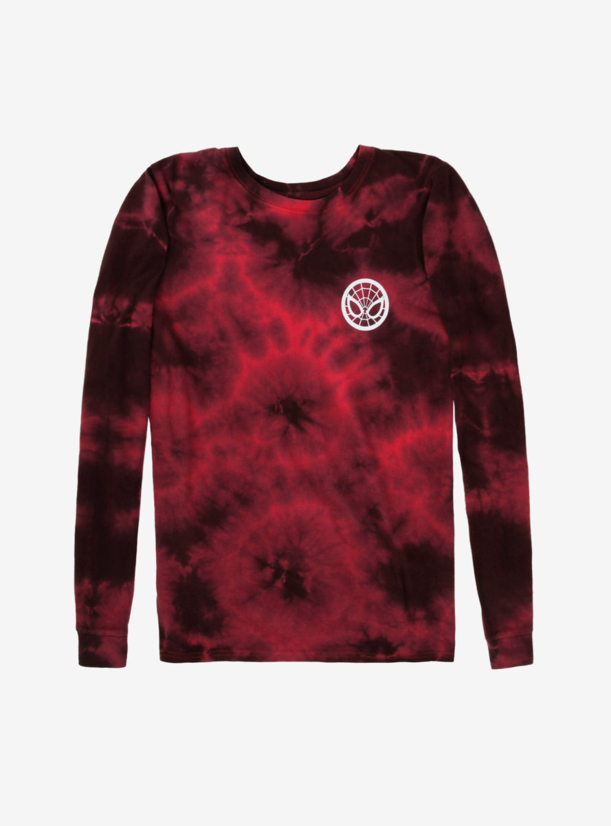 Marvel Spider-Man Tie-Dye Long Sleeve T-Shirt - BoxLunch Exclusive