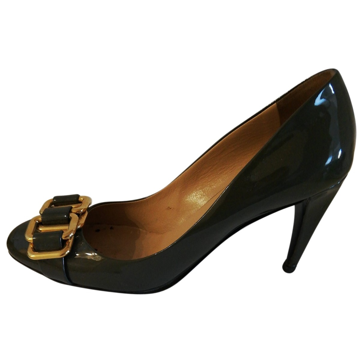 Miu Miu \N Grey Patent leather Heels for Women 40.5 EU