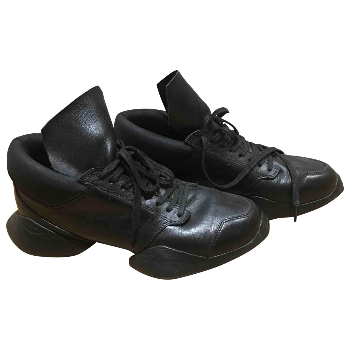 Adidas & Rick Owens - Baskets   pour homme en cuir - noir