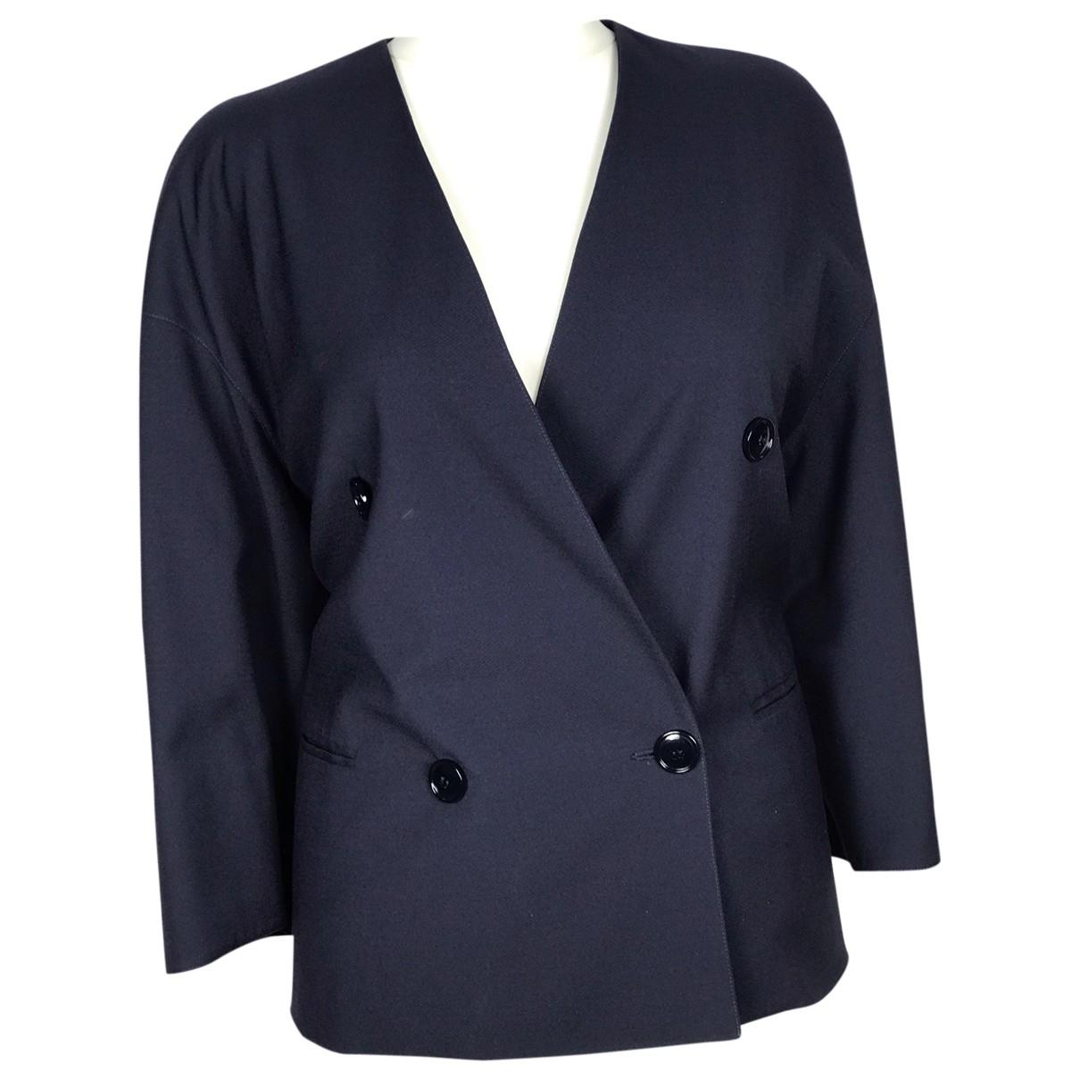 Gianfranco Ferre - Veste   pour femme en laine - bleu