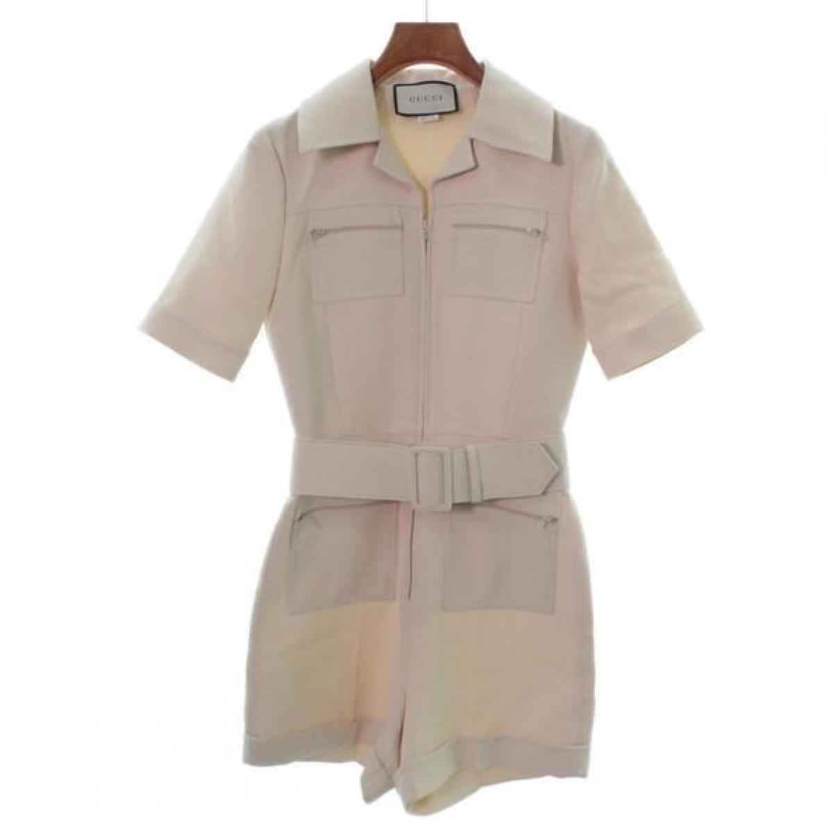 Gucci \N Beige Wool jumpsuit for Women 36 FR