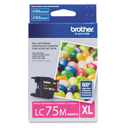 Brother LC75M Original Magenta Ink Cartridge High Yield