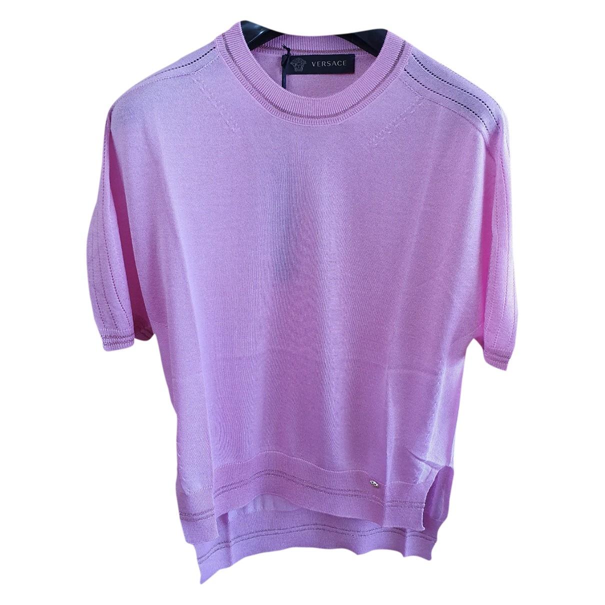 Versace - Pull   pour femme en cachemire - rose