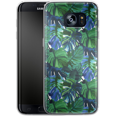 Samsung Galaxy S7 Edge Silikon Handyhuelle - Welcome to the Jungle Palm Deep von Amy Sia