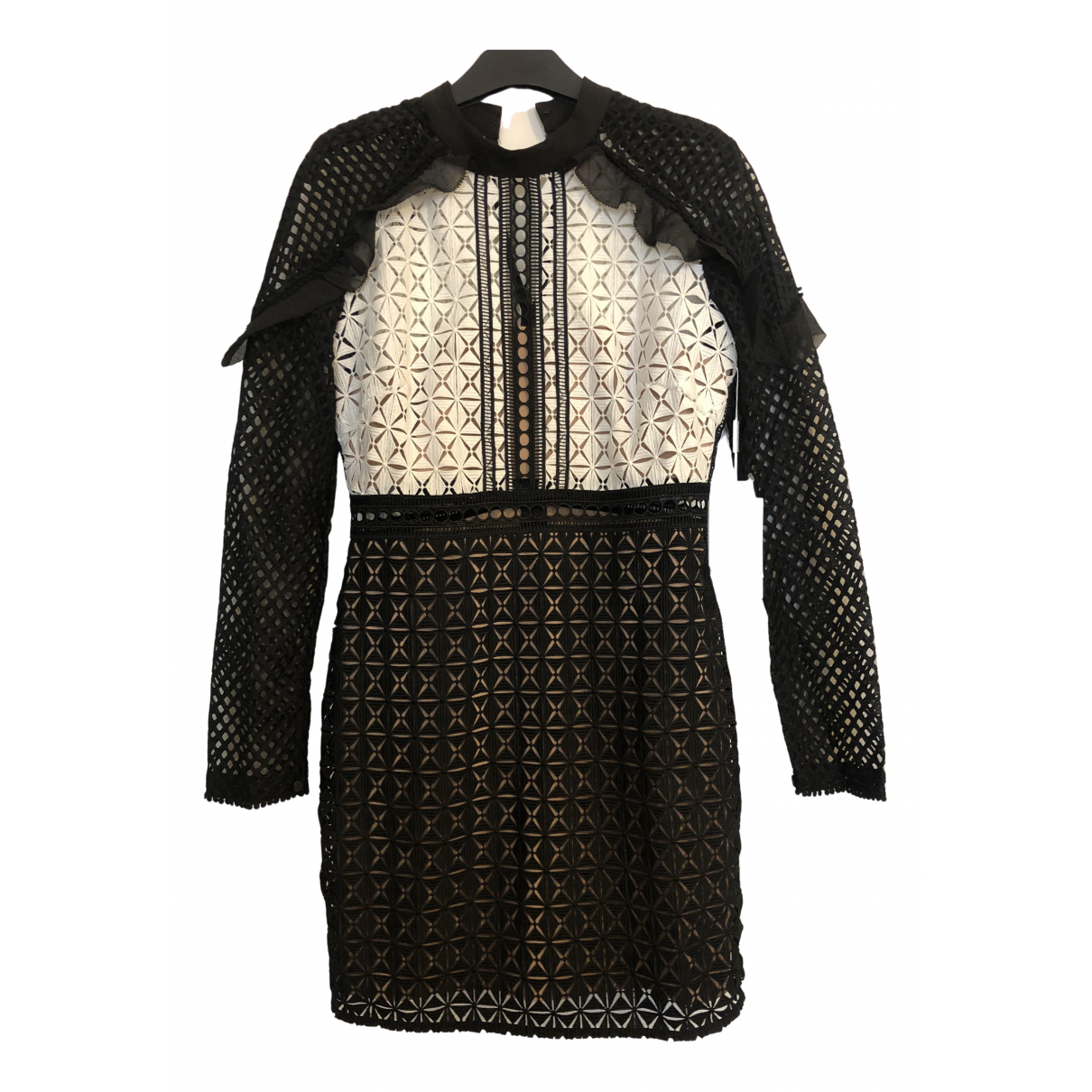 Self Portrait N Anthracite Lace dress for Women 12 UK