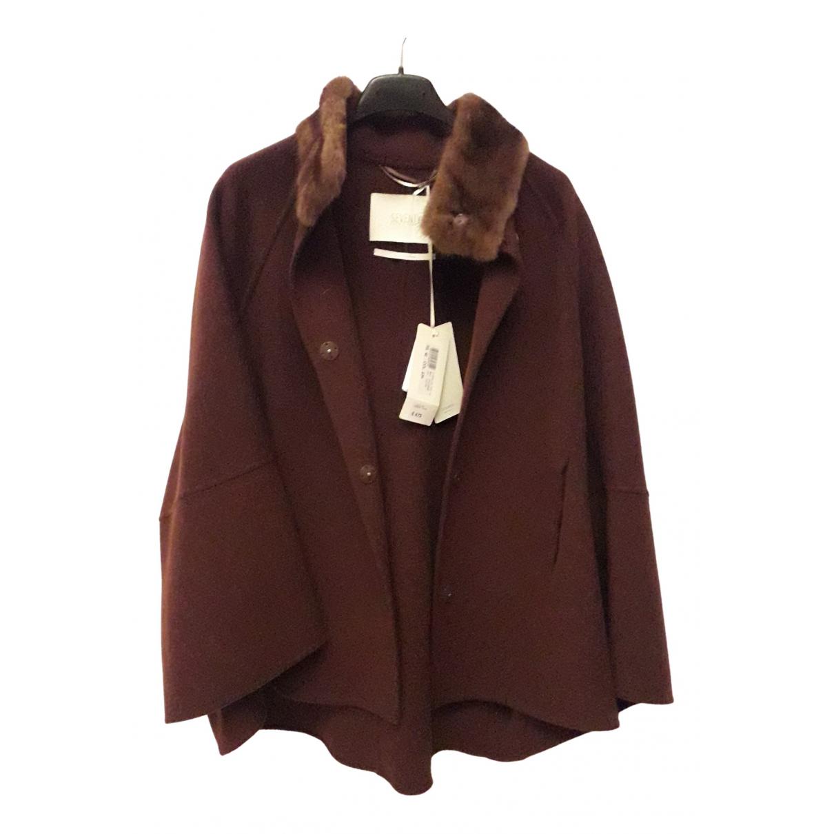 Seventy N Brown Wool jacket for Women 42 IT