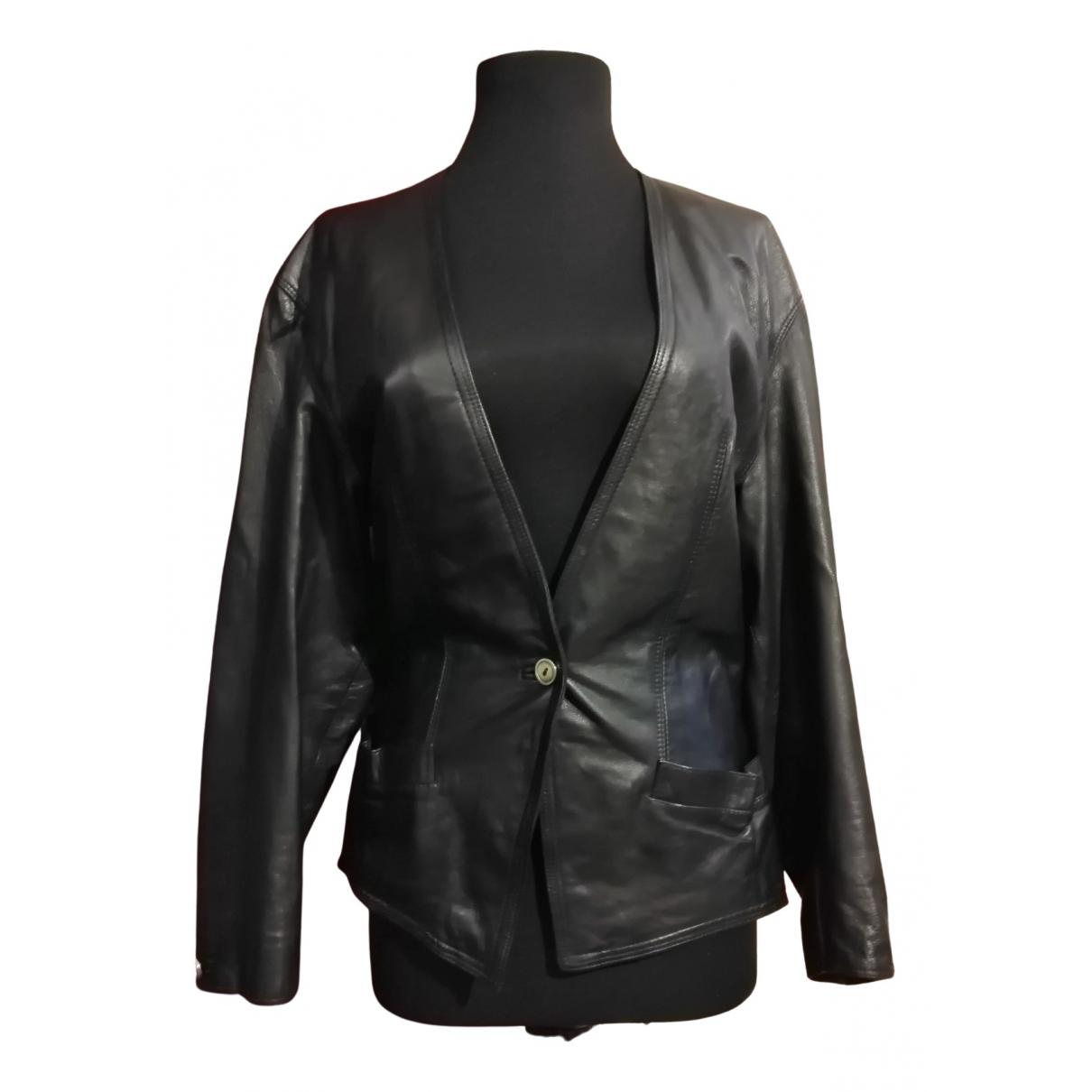 Gianni Versace - Veste   pour femme en cuir - noir