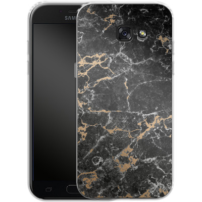 Samsung Galaxy A5 (2017) Silikon Handyhuelle - Marble and Gold von #basic
