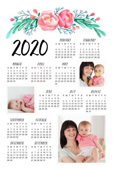 Calendar 20x30 Poster, Home Décor -Floral