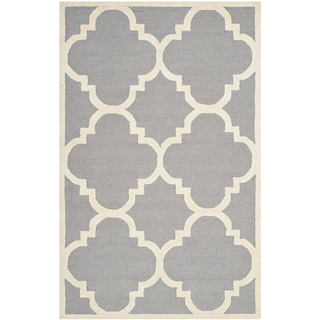 Safavieh Roger Geometric Hand Tufted Wool Rug, One Size , Silver