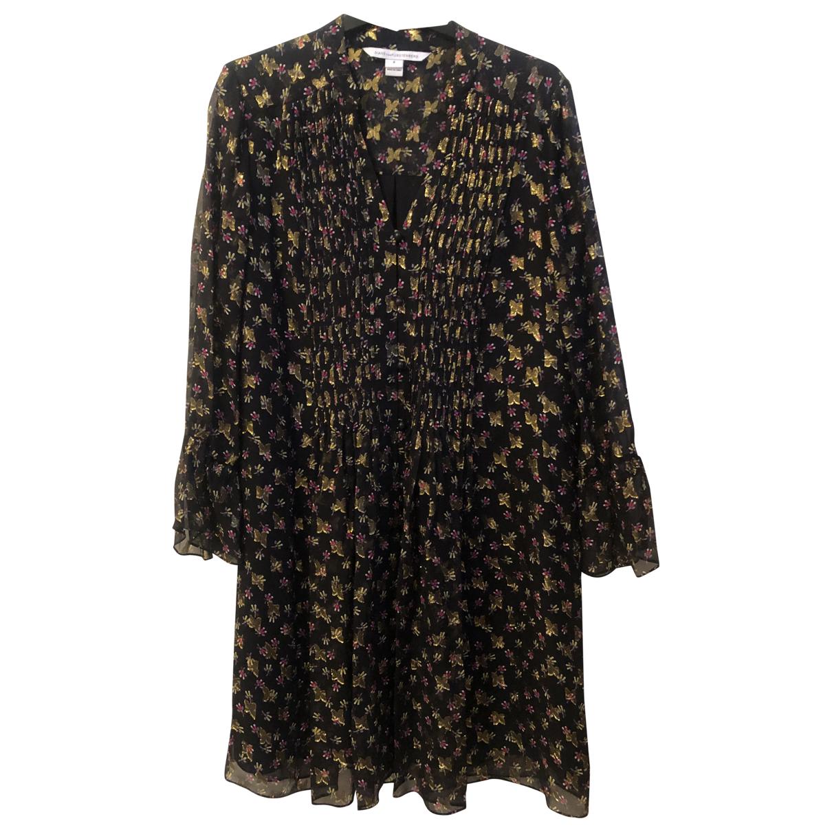Diane Von Furstenberg - Robe   pour femme en soie - noir