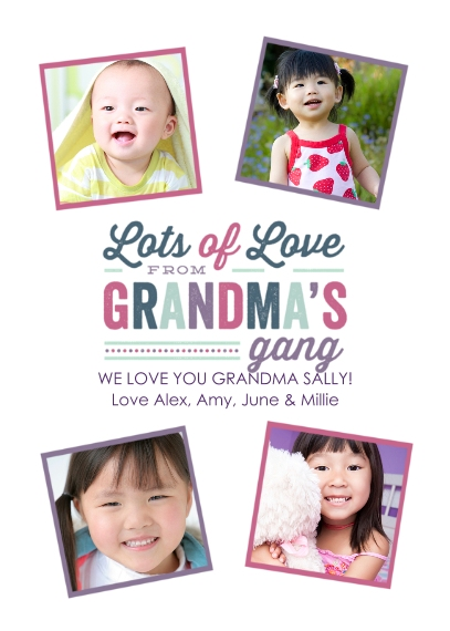 Grandparent's Day 5x7 Cards, Premium Cardstock 120lb with Elegant Corners, Card & Stationery -The Gang's All Here