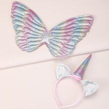 2 piezas accesorio de pelo de niñitas con oreja