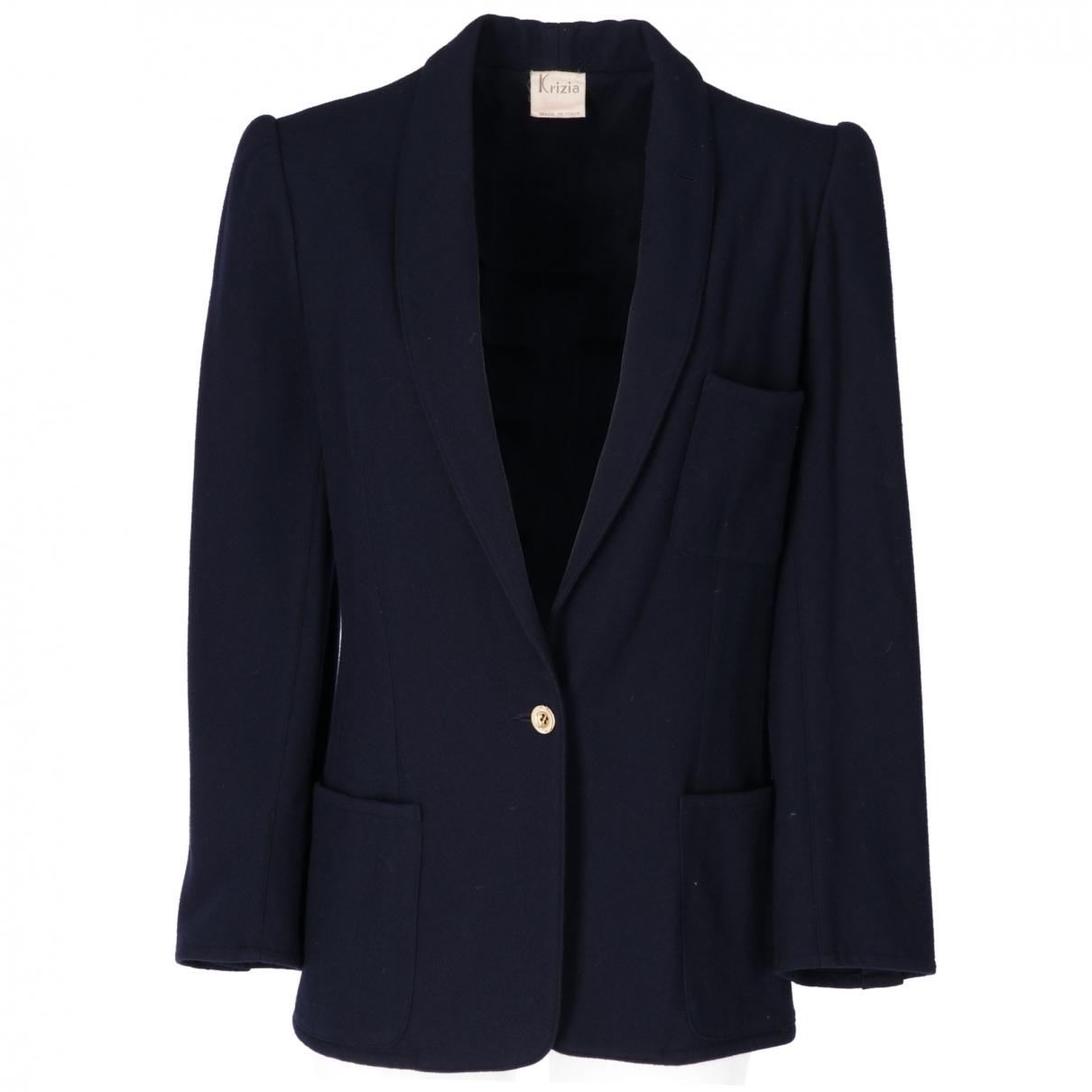 Krizia - Veste   pour femme en laine - bleu