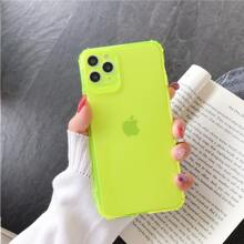 1pc Neon Green Solid iPhone Case