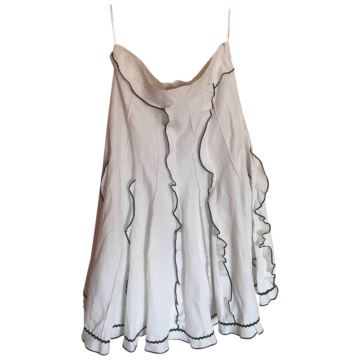 Lug Von Siga - Jupe   pour femme en lin - blanc