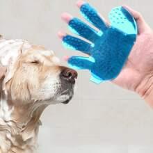 Massagehandschuh aus Silikon fuer Hunde