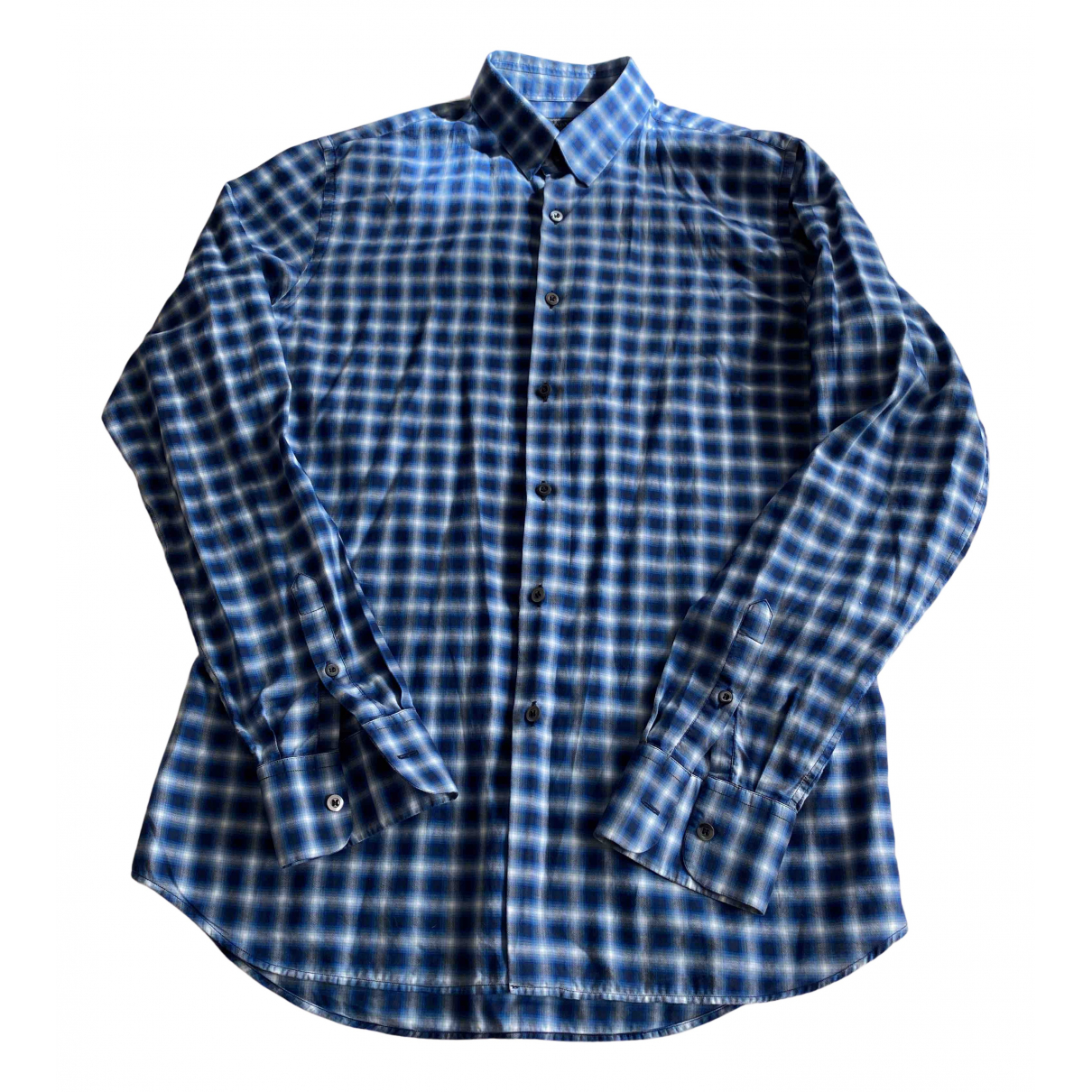 Prada N Blue Cotton Shirts for Men 42 EU (tour de cou / collar)