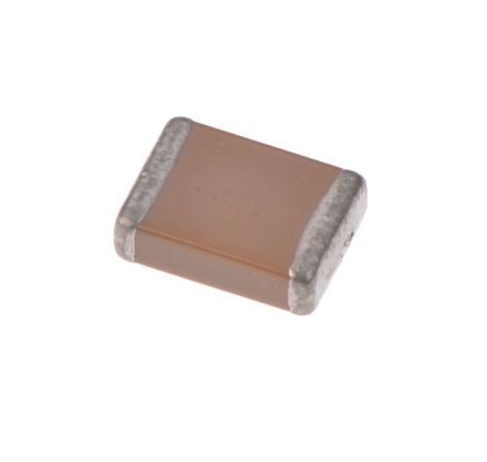 KEMET 1812 (4532M) 1μF Multilayer Ceramic Capacitor MLCC 50V dc ±10% SMD C1812R105K5RACT250