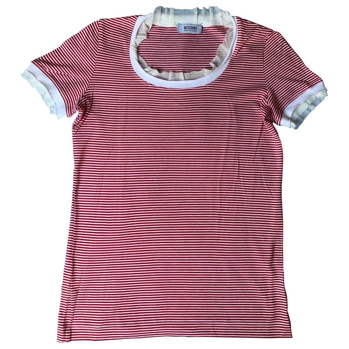 Moschino Cheap And Chic \N Red Cotton  top for Women 40 IT