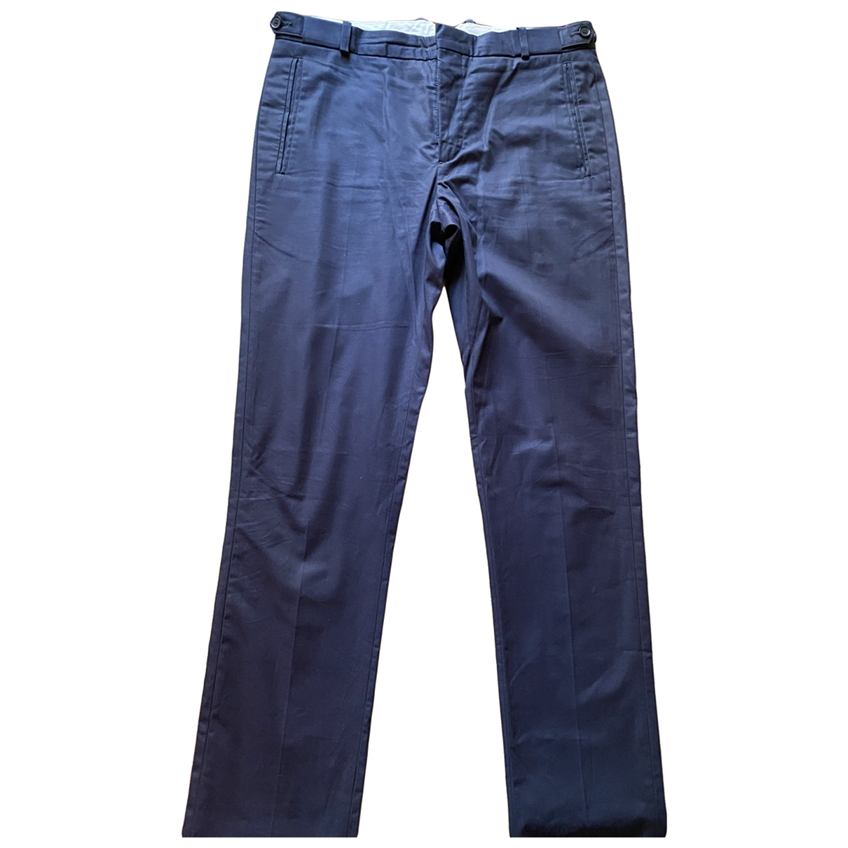 Sandro \N Navy Cotton Trousers for Men 40 FR