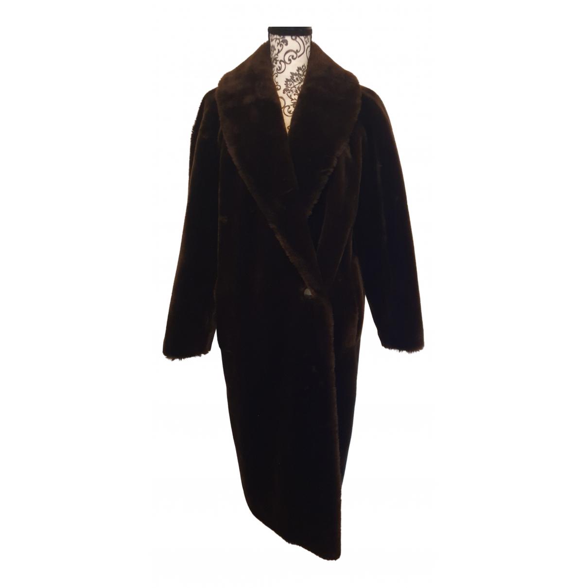 - Manteau Manche ballon pour femme en laine - gris