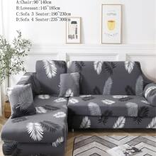 Funda de sofa elastica con estampado de hoja 1 pieza