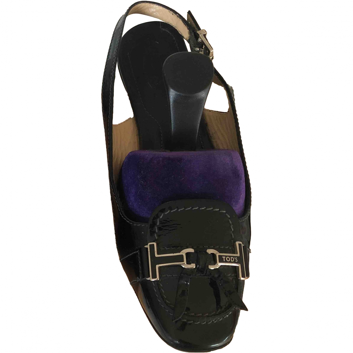 Tod's \N Black Patent leather Sandals for Women 38 EU