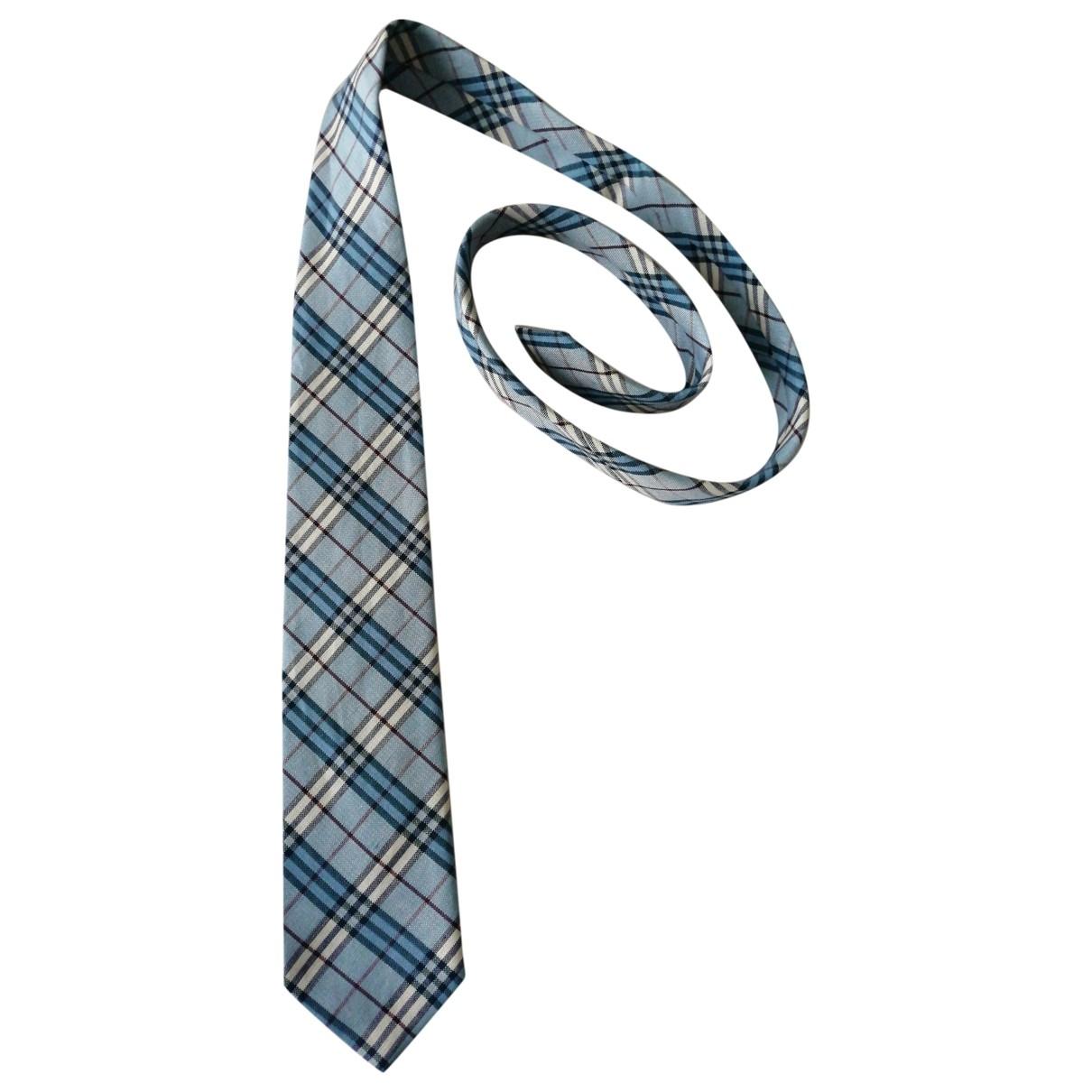 Burberry \N Turquoise Silk Ties for Men \N