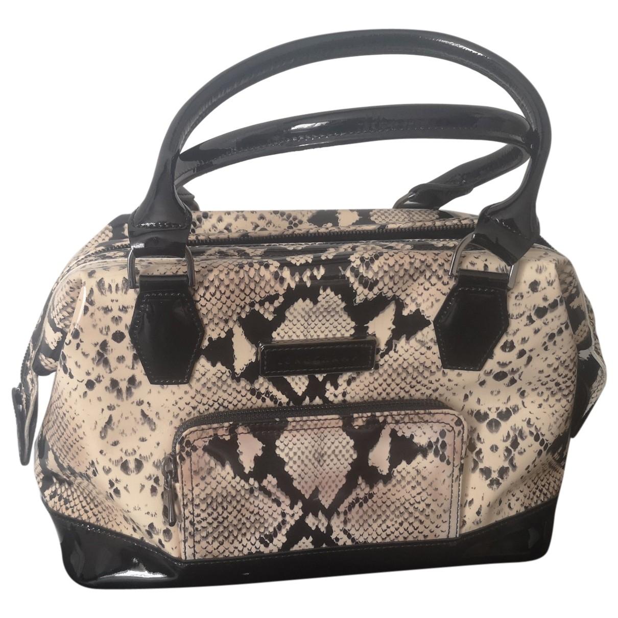 Longchamp Légende Beige Patent leather handbag for Women \N