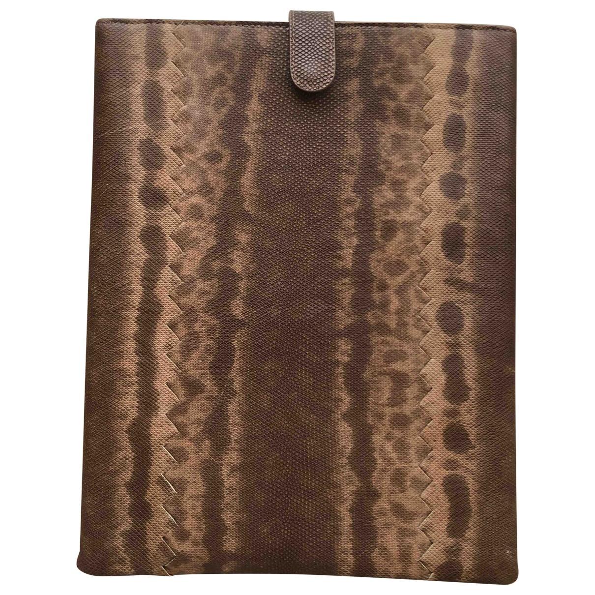Bottega Veneta \N Camel Lizard Accessories for Life & Living \N
