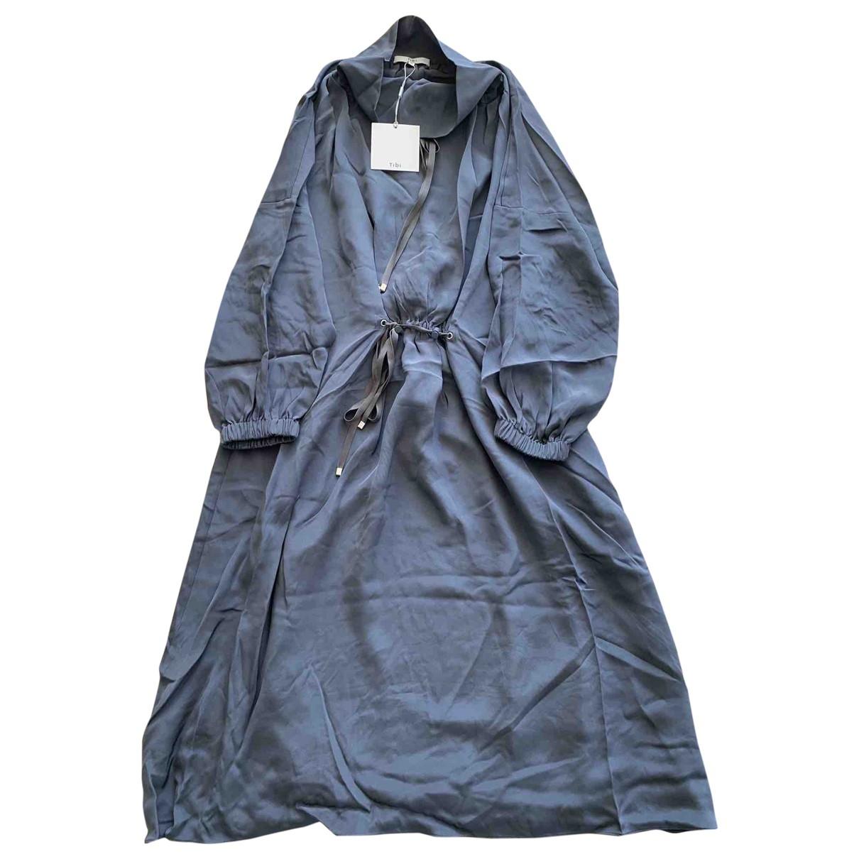 Tibi - Robe   pour femme en soie - anthracite