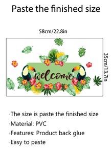 Parrot Print Window Sticker