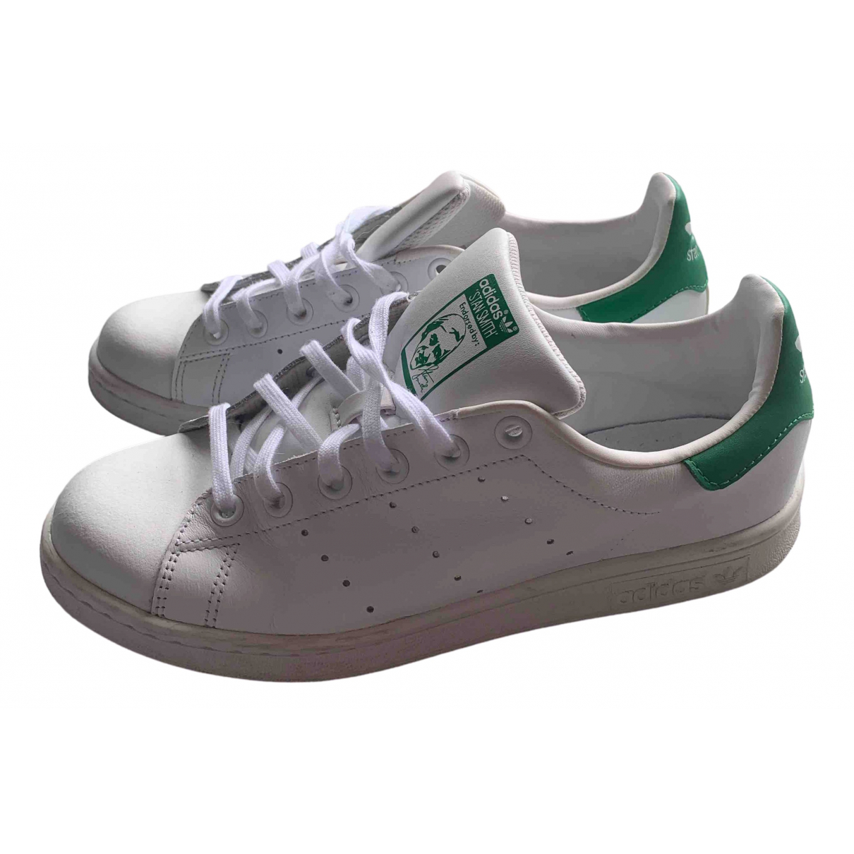 Adidas Stan Smith Green Leather Trainers for Women 6 US