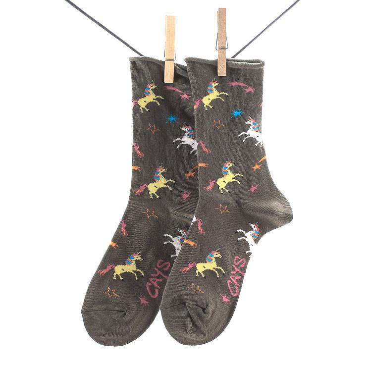 Crönert, 18610 Unicorn Womens Long Socks, olive Größe 39-42