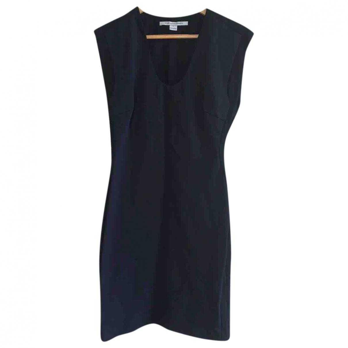 Diane Von Furstenberg \N Kleid in  Schwarz Viskose