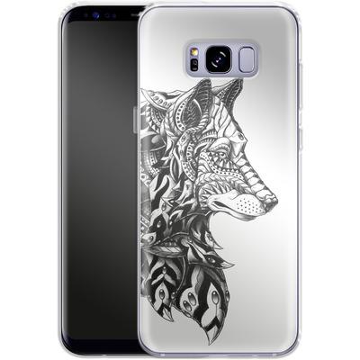 Samsung Galaxy S8 Plus Silikon Handyhuelle - Wolf Profile von BIOWORKZ