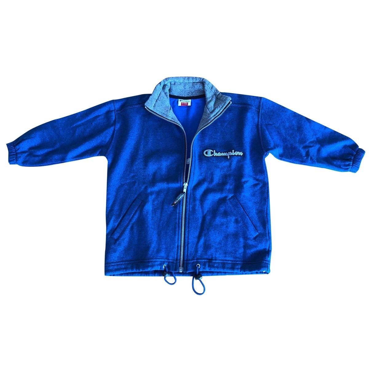 Champion - Pull   pour enfant en coton - bleu