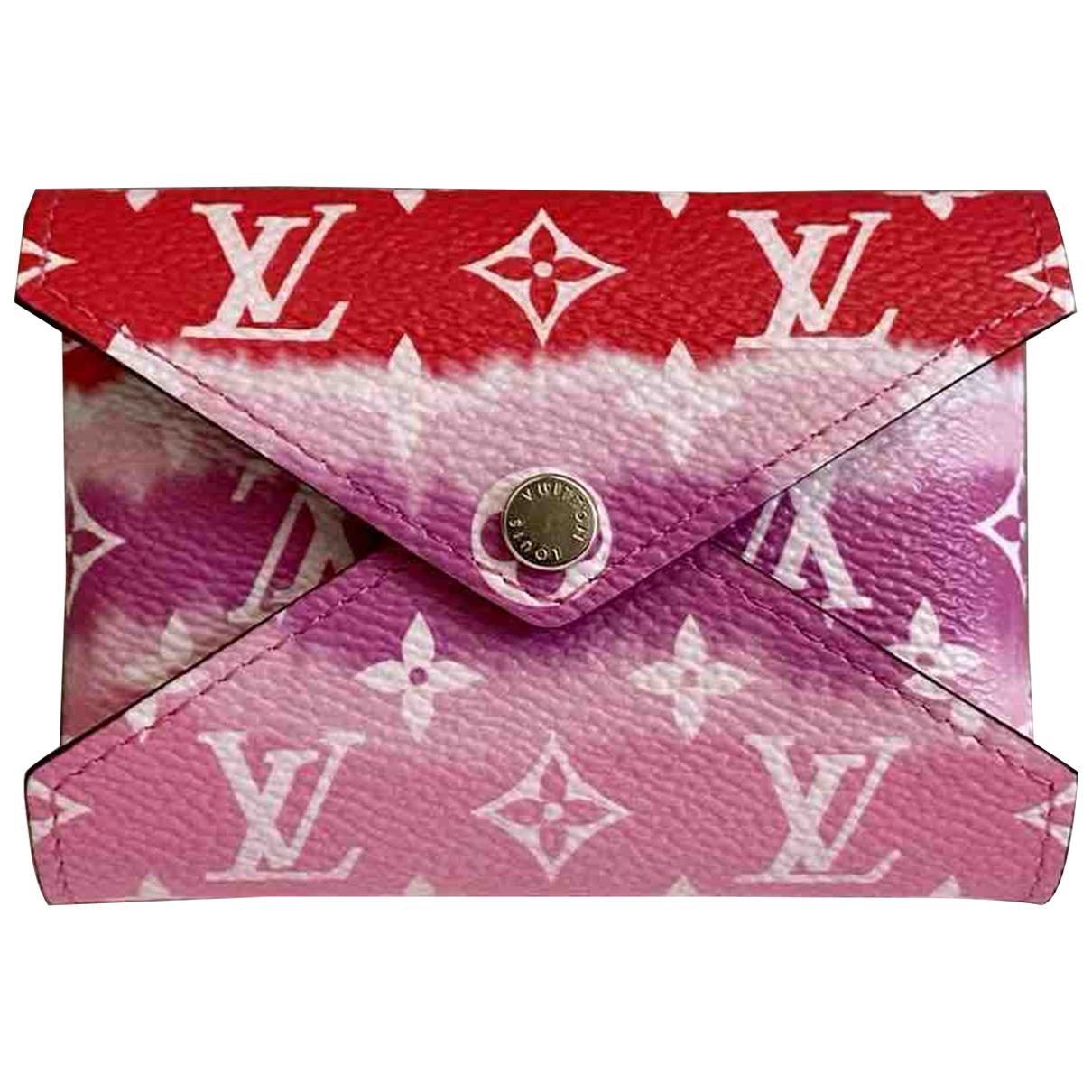 Louis Vuitton - Petite maroquinerie Kirigami pour femme en toile - rouge