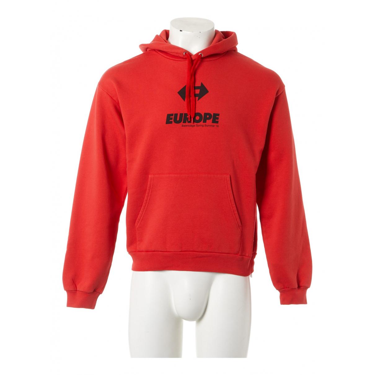 Balenciaga - Pulls.Gilets.Sweats   pour homme en coton - rouge