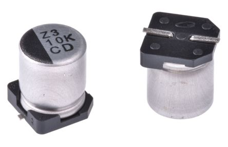 Nichicon 10μF Electrolytic Capacitor 80V dc, Surface Mount - UCD1K100MCL1GS (10)