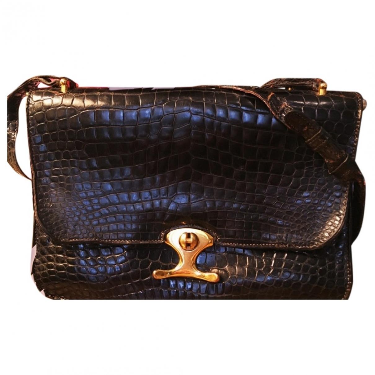 Hermes \N Handtasche in  Schwarz Aligator