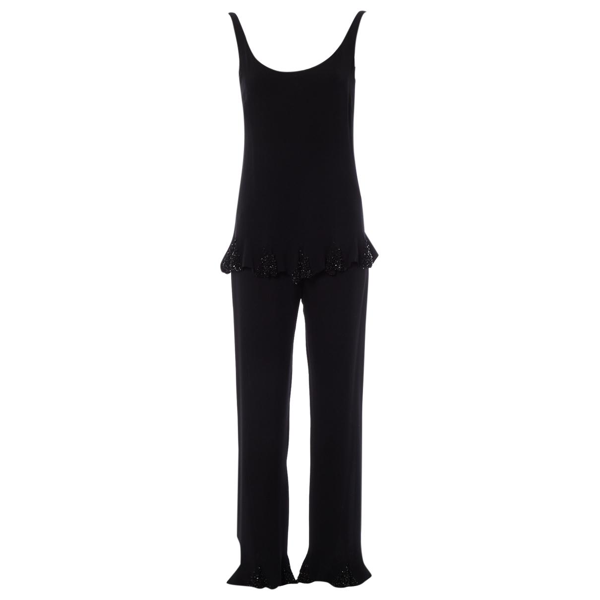 Valentino Garavani - Top   pour femme en soie - noir