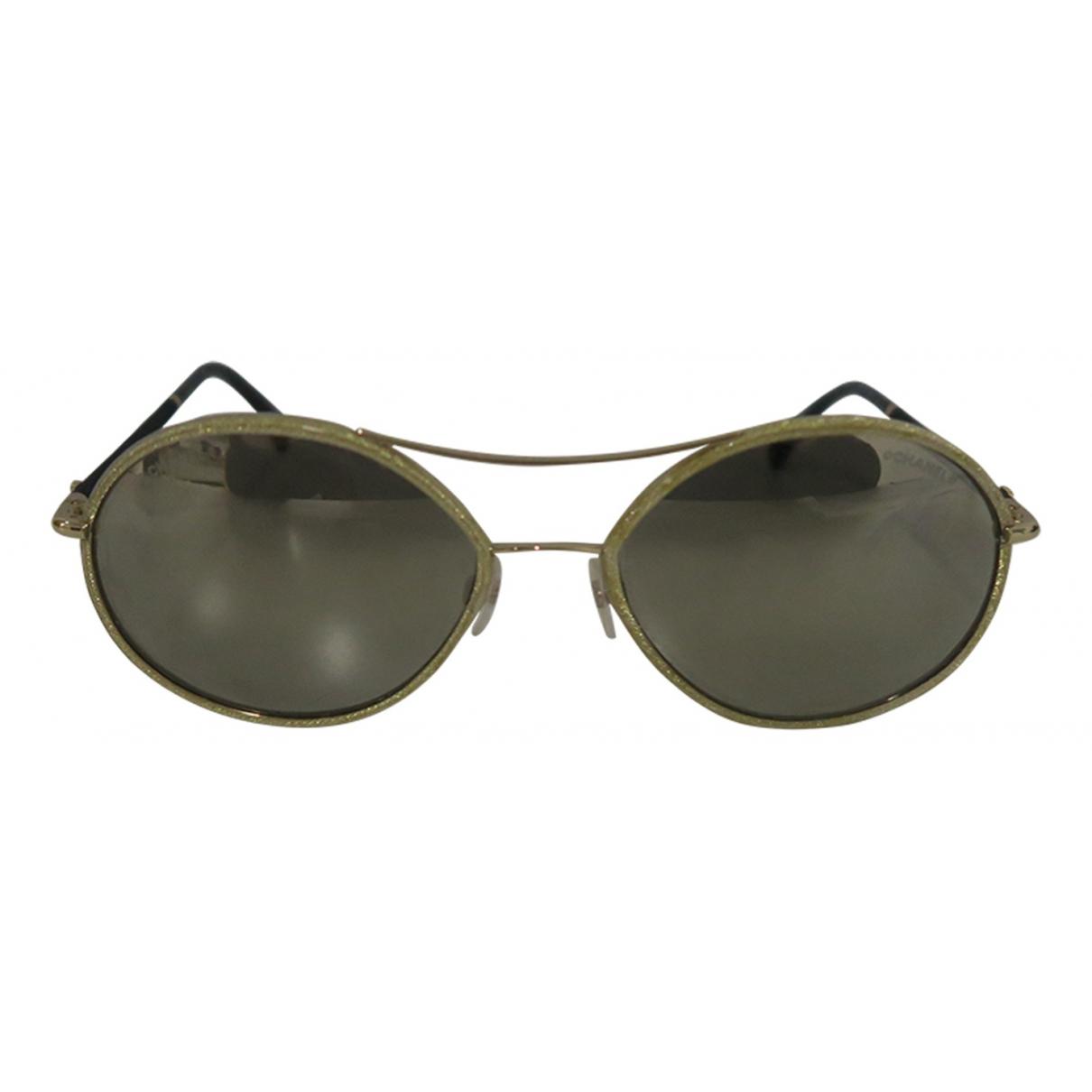 Chanel N Gold Metal Sunglasses for Women N