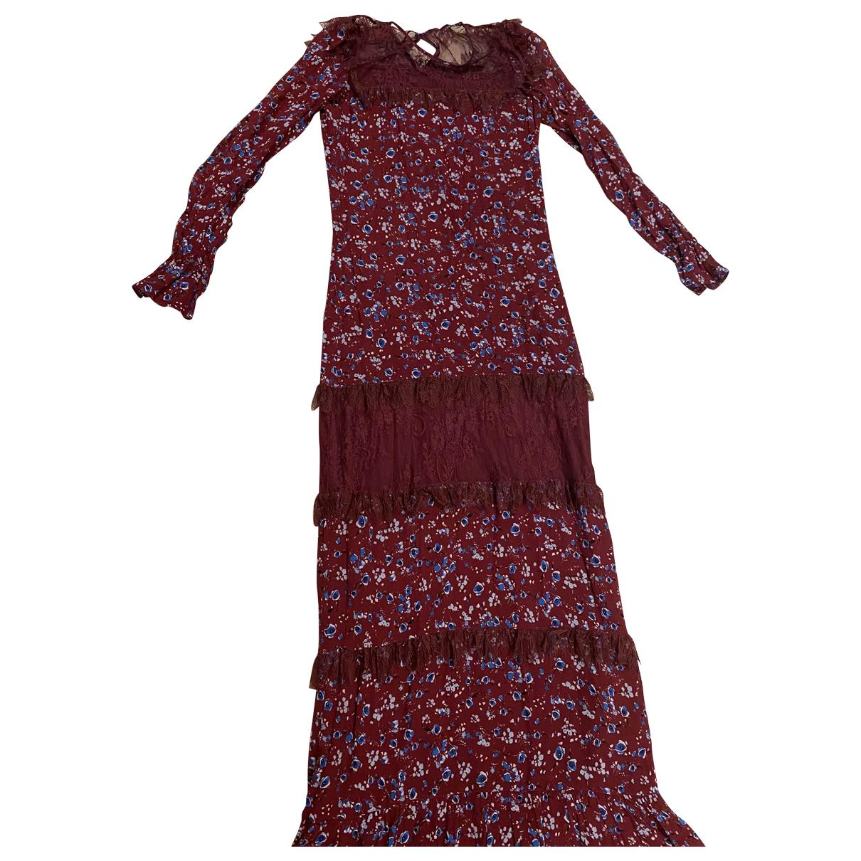 Twin Set \N Kleid in  Bordeauxrot Spitze