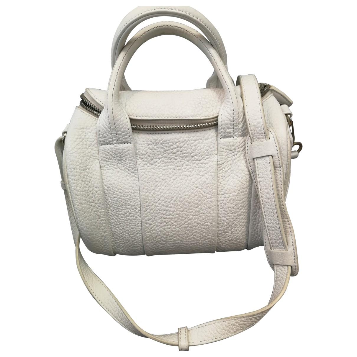 Alexander Wang Rockie Handtasche in  Weiss Leder