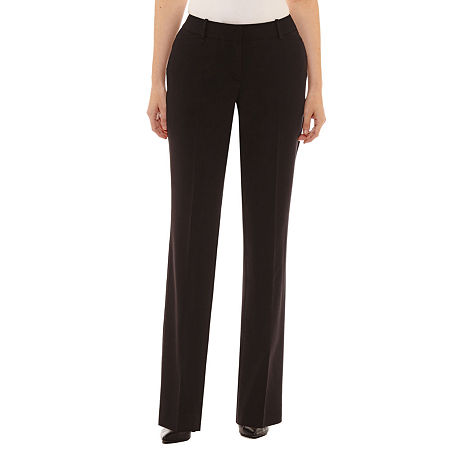 Worthington Womens Curvy Fit Perfect Trouser, 18 Short , Black