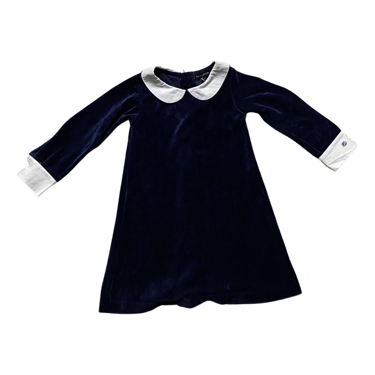 Ralph Lauren - Robe    pour enfant en velours - marine