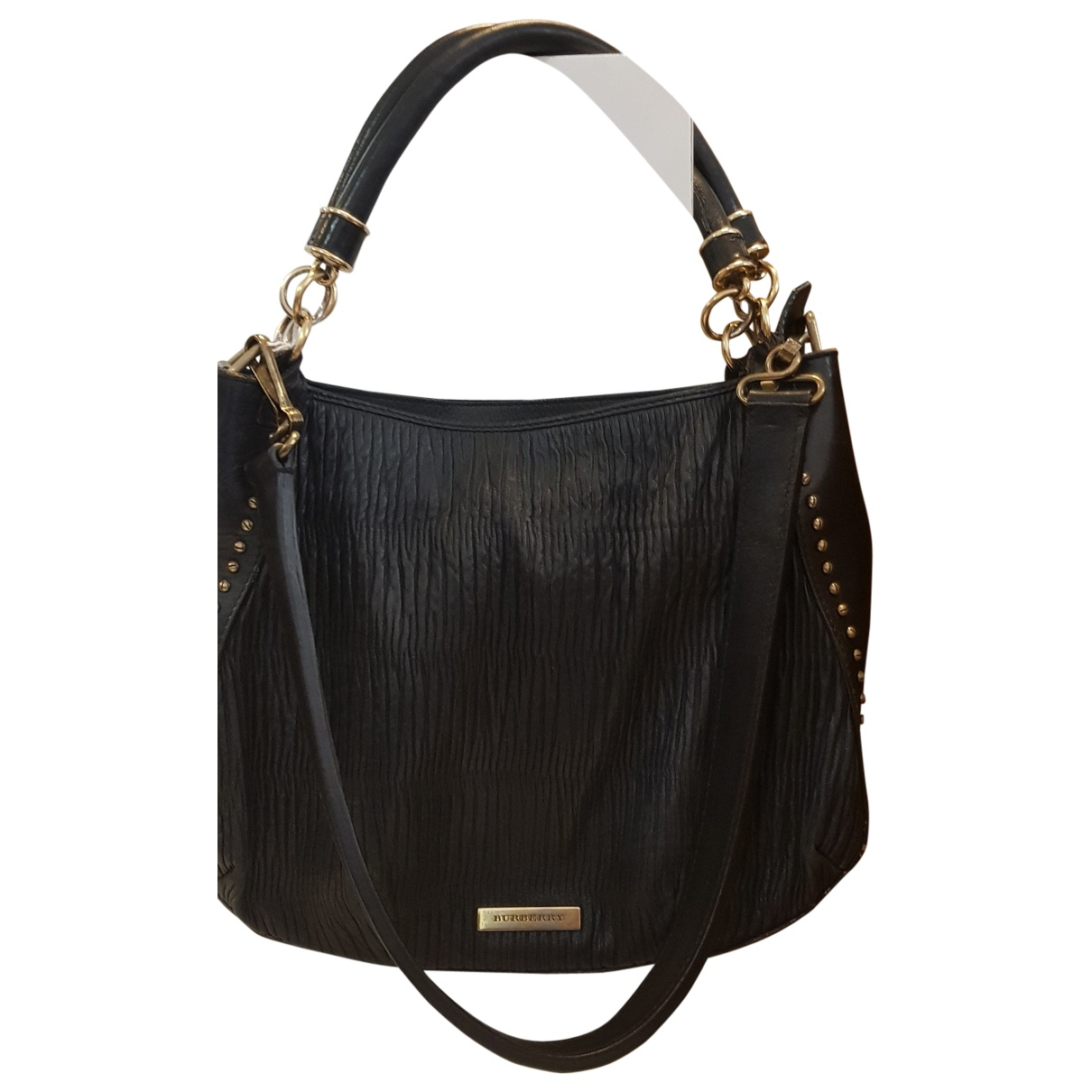 Burberry - Sac a main   pour femme en cuir - noir